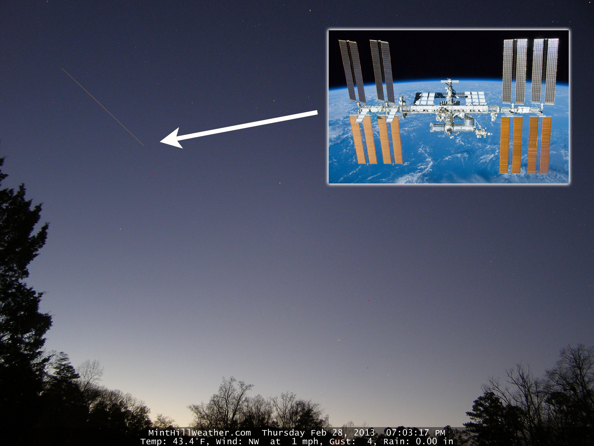 International Space Station flies over Charlotte « Weather
